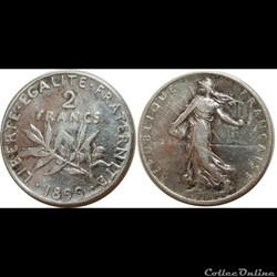 2 francs Semeuse 1899