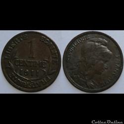 1 centime Daniel-Dupuis 1911