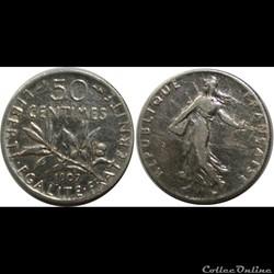 50 centimes Semeuse 1907