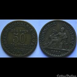 50 centimes Chambres de Commerce 1923