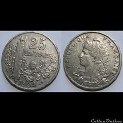 25 centimes Patey, 2eme type 1904