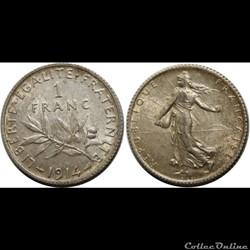 1 franc Semeuse 1914