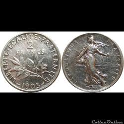 2 francs Semeuse 1905