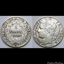 1 franc Cérès 1888 A