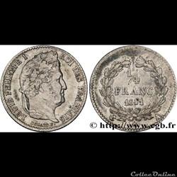 1/4 francs Louis Philippe 1841 A