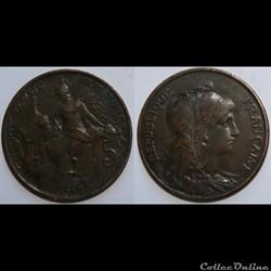 5 centimes Daniel-Dupuis 1917