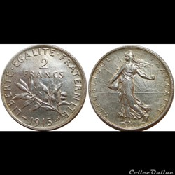 2 francs Semeuse 1915