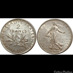 2 francs Semeuse 1914