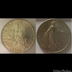 1 franc Semeuse 1910