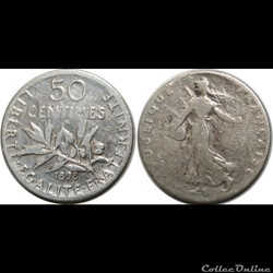 50 centimes Semeuse 1898
