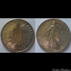 1 franc Semeuse 1904