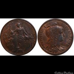 10 centimes Daniel-Dupuis 1917