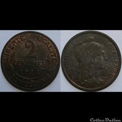 2 centimes Daniel-Dupuis 1914