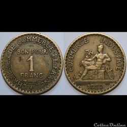 1 franc Chambres de Commerce 1922