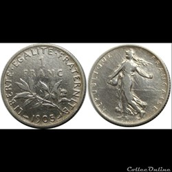 1 franc Semeuse 1905