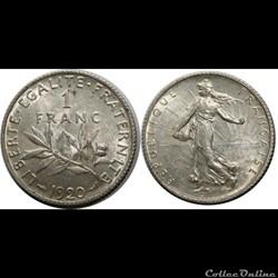 1 franc Semeuse 1920