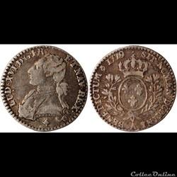 """Louis XVI - 1/10e Ecu dit """"aux branches d'olivier  - 1789 A"""