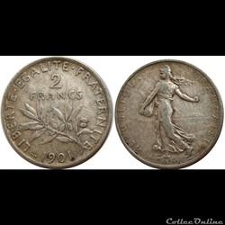 2 francs Semeuse 1901