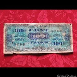 Billet 100 Francs Drapeaux