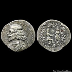 Vol collection de monnaies Parthes