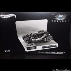 Batmobile Hotwheels Elite The Dark Knight Trilogy 1/18eme BCJ99 5000 exemplaires