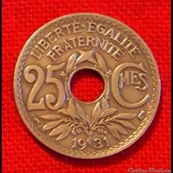 Lindauer - 25 Centimes - 1931