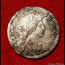 Louis XIV - Quadruple sol aux 2L - 1692 ...