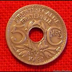 Lindauer - 5 Centimes - 1931