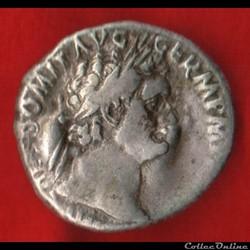Denier de Domitien - Athéna ou Minerve ou Pallas
