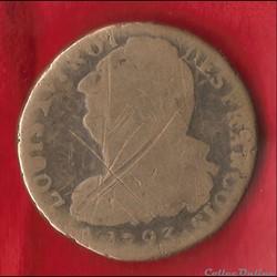 Louis XVI - 2 Sols - 1793 - Orléans (sans lettre d'atelier)