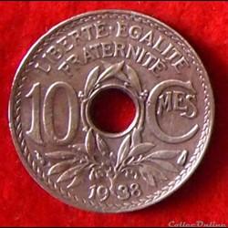 Lindauer - 10 Centimes - 1938
