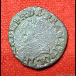Henri III - Denier Tournois - 1580 - Bay...