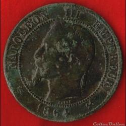 Napoléon III - 10 Centimes - 1864 - Bord...