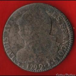 Louis XVI - 2 Sols - 1792 - Clermont