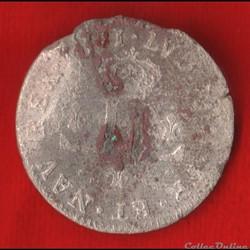 Louis XIV - Pièces de 30 deniers - 1711 ...