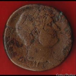 Hadrien - Sesterce - à la grosse tête