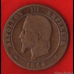 Napoléon III - 10 Centimes - 1864 - Pari...
