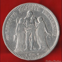 Troisième république - 5 Francs - 1793 -...