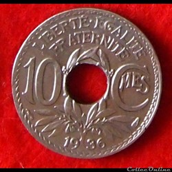 Lindauer - 10 Centimes - 1936