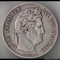 Louis Philippe Ier - 5 Francs - 1839 - B...