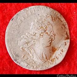 Louis XIV - 5 sols aux insignes - 1702 -...