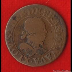 Louis XIII - Double Tournois - 1615 - Am...