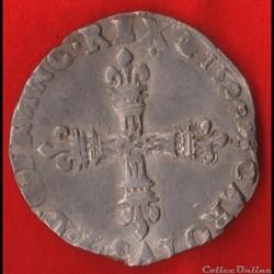 Charles X - Huitième d'écu - 1590 - Pari...