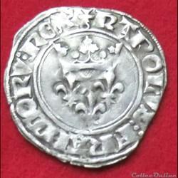 """Charles VI - Gros dit """"Florette"""" - 1417 ..."""