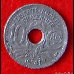 Lindauer - 10 Centimes - 1941