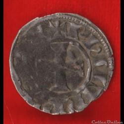 Philippe IV - Denier tournois à l'O rond...