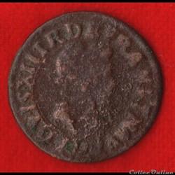 Louis XIII - Double Tournois - 1615 - Ly...