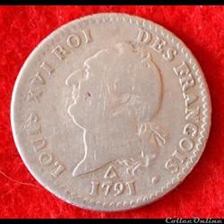 Louis XVI - 15 Sols - 1791 - Orléans