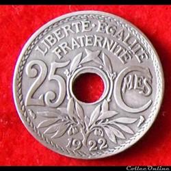 Lindauer - 25 Centimes - 1922