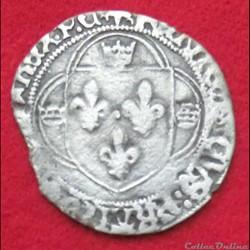 Francois Ier - Grand blanc à la couronne...